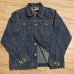 Oakley Mens Denim Jeans Blue Jacket Size L Large
